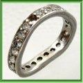シルバー指輪変形直し、石留め例(CZを1個石留め)