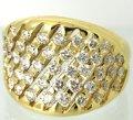K18ダイヤリングのダイヤ1個石合わせ及び石留め例